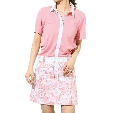 f143ec74052a4 Amazon | ロッキー&ホッパー(ROCKY&HOPPER) ゴルフウェア レディース 春夏 半袖 台襟ワンピース 3色 |  ワンピース・チュニック 通販