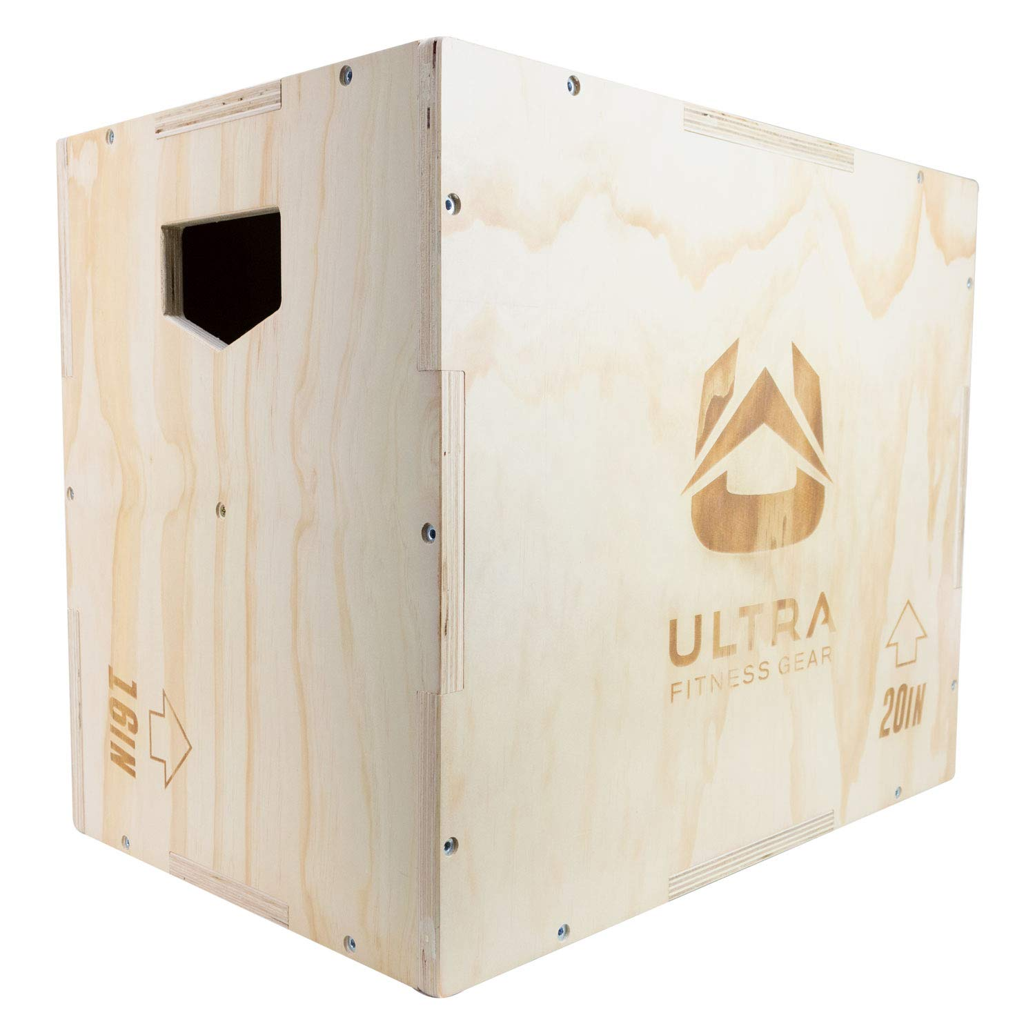 Ultra Fitness Gear 3 in 1 Wood Plyo Box for Jump, Crossfit, MMA Training. Plyometrics. Sizes 30 24 20, 24 20 16, 20 18 16, or 16 14 12
