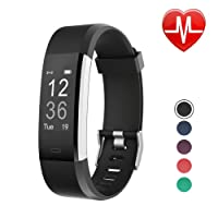 LETSCOM Fitness Tracker HR, Activity Tracker Watch with Heart Rate Monitor, Waterproof Smart Band with Step Counter, Calorie Counter, Pedometer Watch for Kids Women and Men, Android & iOS