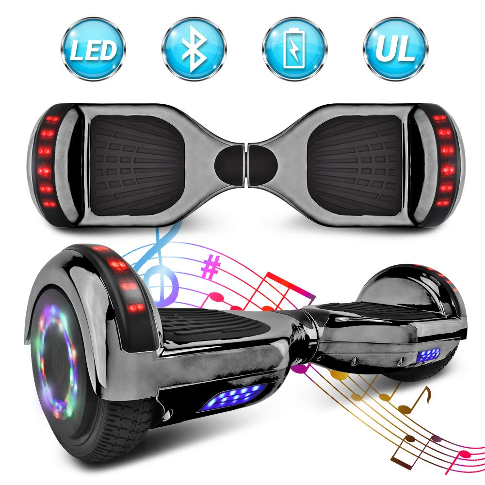 NHT 6.5'' Matte Electric Hoverboard Self Balancing Scooter with Built-in Bluetooth Speaker LED Lights - UL2272 Certified (C-Black) by NHT