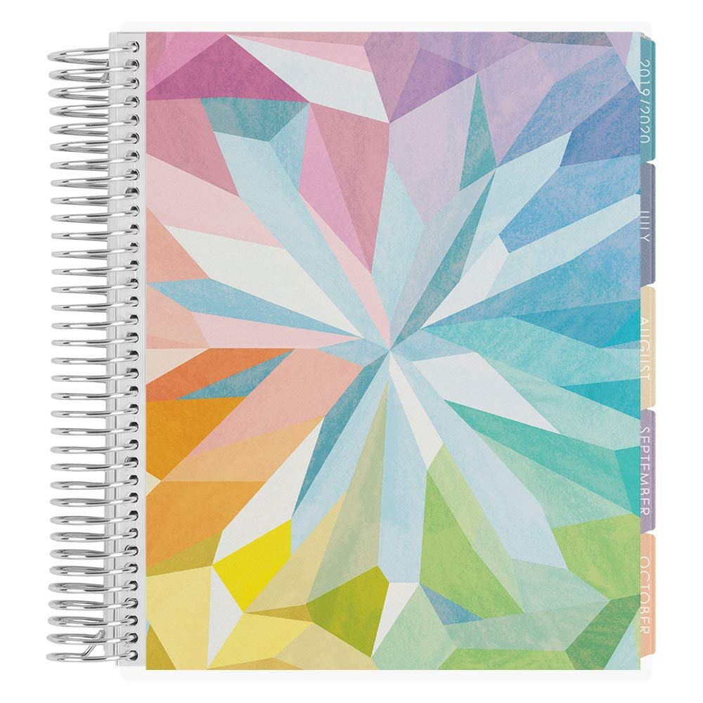 Erin Condren 12-Month July 2019 - June 2020 Coiled LifePlanner - Kaleidoscope Colorful, Hourly (Colorful Layout) by Erin Condren (Image #1)