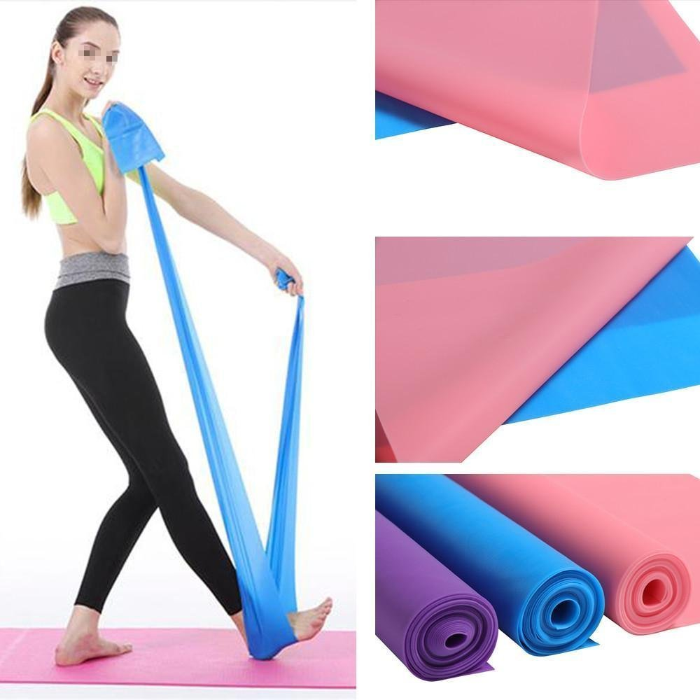 MTSZZF 1.5M Exercice Bandes Pilates Yoga Dyna Formation Physio Aerobics Stretch Resistance Bandes