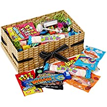Moreton Gifts 100 Pieces Happy Birthday Mega Retro Sweets Treasure Box - Full Of The Top Favorite Sweets Loved By Everyone - The Perfect Birthday Present - By