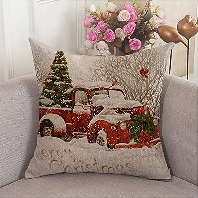 Amazon.com: Alicia Haines Rojo Camión Árbol Navidad Sofá ...