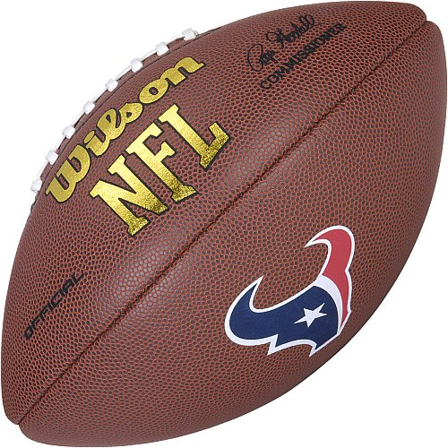 Wilson Nfl Game Logo Football (Houston Texans Logo Official Football)