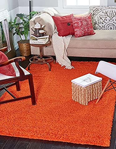 Unique Loom 3127934 Area Rug, 4 X 6, Tiger Orange (Kids Orange Rug)