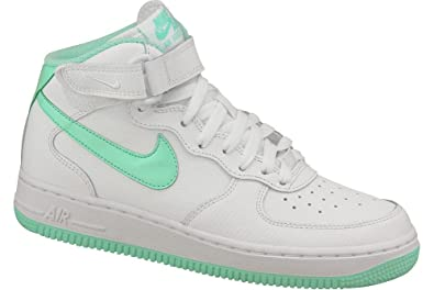 info for a914b 0e7e1 Nike Air Force 1 MID (GS) Schuhe white-artisan teal - 35, 5: Amazon ...