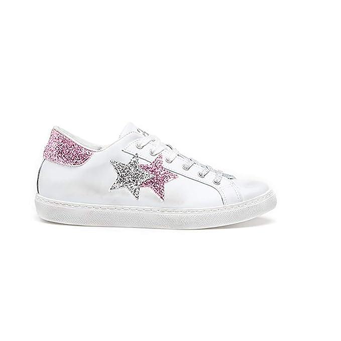 2Star Scarpa Sneaker Donna LOW BIANCO ARGENTO