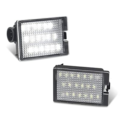 RUXIFEY LED License Plate Light Replacement Compatible with Dodge Durango 2014-2020 Pickup Truck, 6000K White, Pack of 2: Automotive
