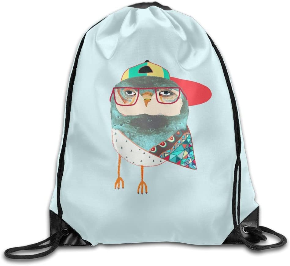 Owl Art Drawstring Backpack Rucksack Shoulder Bags Training Gym Sack For Man And Women