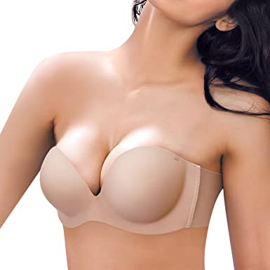 JUST BEHAVIOR Self Adhesive Silicone Bra Strapless Reusable Invisible Push-up Bra