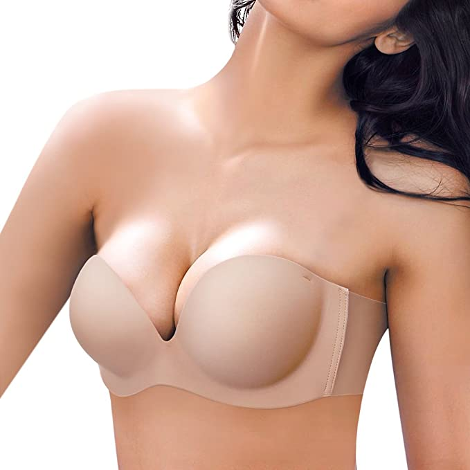 JUST BEHAVIOR Sujetador Adhesivo, Reutilizable Sujetador Push up Bra con [ tiras invisible transparentes extraíbles