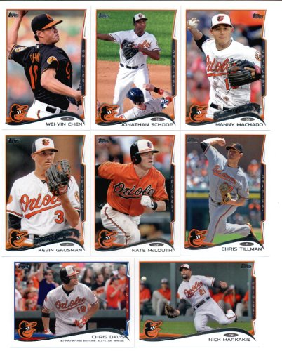 2010,2011,2012,2013 & 2014 Topps Baltimore Orioles Baseball Card Team Sets (Complete Series 1 & 2 From All Five Years ) (18