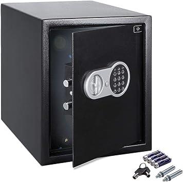 Deuba Caja Fuerte Seguridad Safe Negro Cierre electrónico 35 x 40 x 40 cm Código de Seguridad de 3-8 dígitos Puerta: Amazon.es: Bricolaje y herramientas