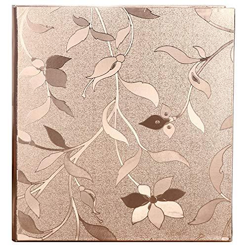 (Wedding Photo Album, Huge Photo Album, Rose Gold PVC Leather Cover 620 Pockets,4x6 5x7 Mixed Pockets, US-AKI-006)