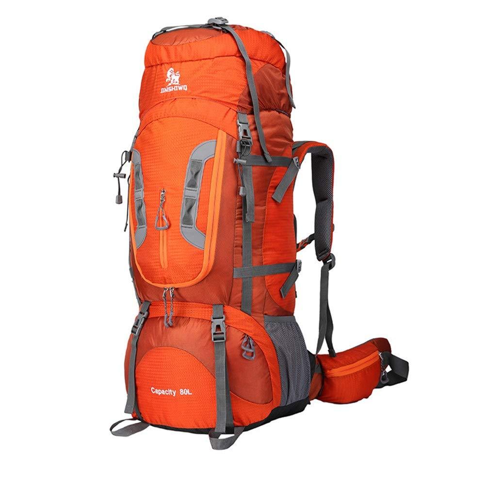 Orange 363283cm Sac à Dos Professionnel 80L pour Alpinisme Extérieur Sac à Dos De Voyage Sportif Sac à Dos De Randonnée Multifonctionnel (Couleur   bleu 1, Taille   36  32  83cm)