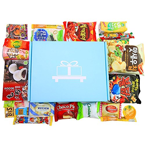 Deluxe Asian Snack Box (22 Count) | Variety Assortment of Japanese Candy, Korean Snacks and More! | College Care Package | Gift Care Package