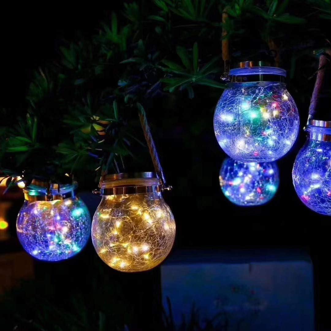 Erwachsene Garten Terrasse Christmas Mosaik Glas Ball Garten solarlampen Solar Gartenleuchte Solarlampen f/ür Party Solarleuchten Mosaik Solar licht Kinder