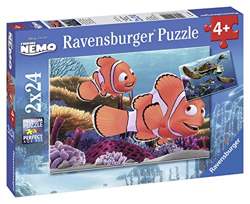 Ravensburger Disney Pixar: Nemos Adventure 2 x 24-Piece Jigsaw Puzzle for Kids – Every Piece is Unique, Pieces Fit Together Perfectly