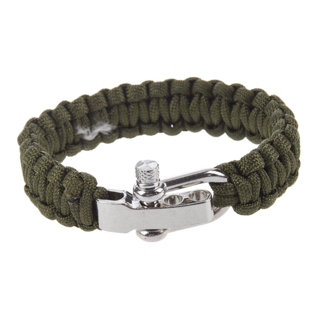 ueberleben Armband - TOOGOO(R) Einstellbar ueberleben Armband fuer Fallschrim Schnur mit Edelstahl Metallverschluss(Braun)
