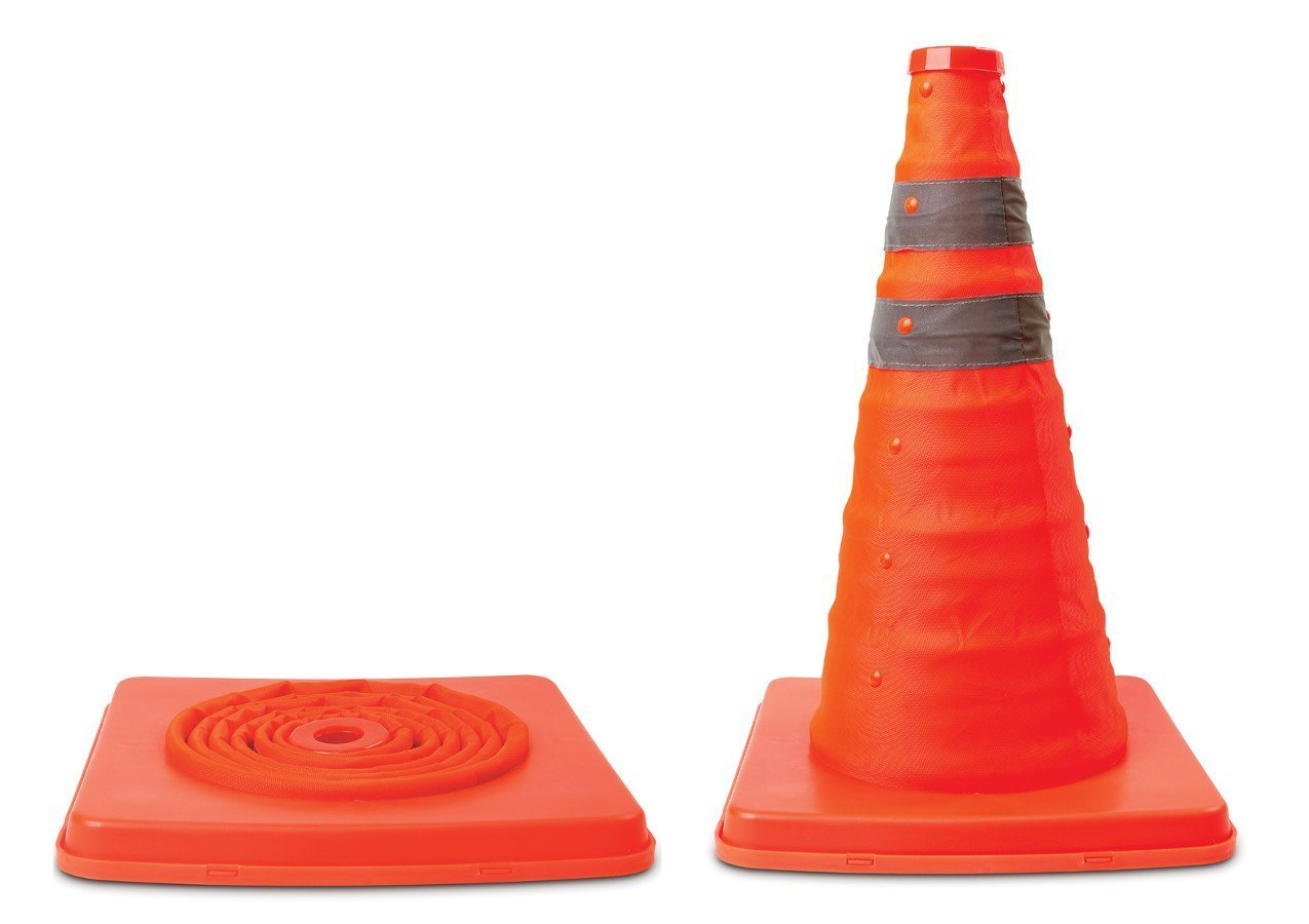 Collapsible Pop-Up Safety Cone, 16'', Red, Multi-Purpose