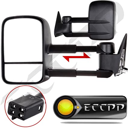 ECCPP Towing Manual Telescoping Side View Door Mirrors Left /& Right Pair Set for 88-98 Chevy//GMC C//K1500 88-00 C//K2500 3500 92-99 Suburban C//K1500 2500 Tahoe Yukon Truck//2000 Chevy Tahoe GMC Yukon V8 5.7L
