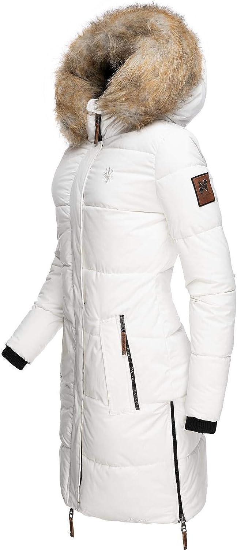 Navahoo Damen Wintermantel Steppmantel mit abnehmbarem Kunstfell Zuckerle 4 Farben XS-XXL