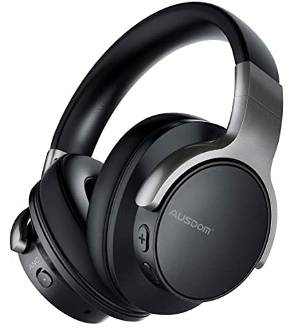 e891ae94fa4 Ausdom ANC8 Active Noise Cancelling Bluetooth Headphones, Over Ear Wireless  Headphones Wired Headsets with Microphone