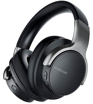 be5c9e7d854 Ausdom ANC8 Auriculares Bluetooth 4.0 con cancelacion de ruido activa  (micrófono incorporado, batería litio recargable de 400 mAh, negro):  Amazon.es: ...