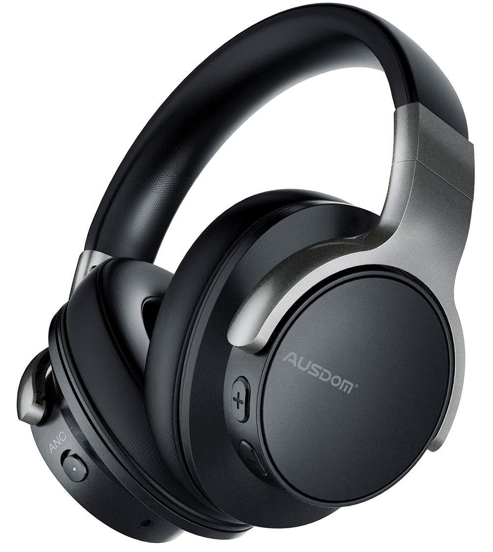 Auriculares Cancelacion De Ruido Activa Bluetooth Ausdom Anc8 Over-ear Inalambrico Con Cable Headsets Con Microfono 30h