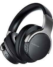 AUSDOM ANC8 Casque Bluetooth Réduction Bruit Active Casque Audio Sans Fil / Filaire Réglable avec Microphone Intégré, 20H de Jeu pour Voyages Smartphones PC TV - Noir