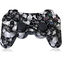 PS3 Controller Wireless Double Shock Controller für Playstation 3 mit Ligne de Charge (Crâne)