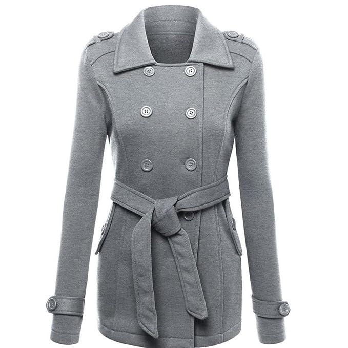 Donna Cappotto Caldo Giacca Spessore Parka Cappotto Tasca Cintura Felpa Giacconi  Cappotti Donna Kangrunmy (S c287e5042a84