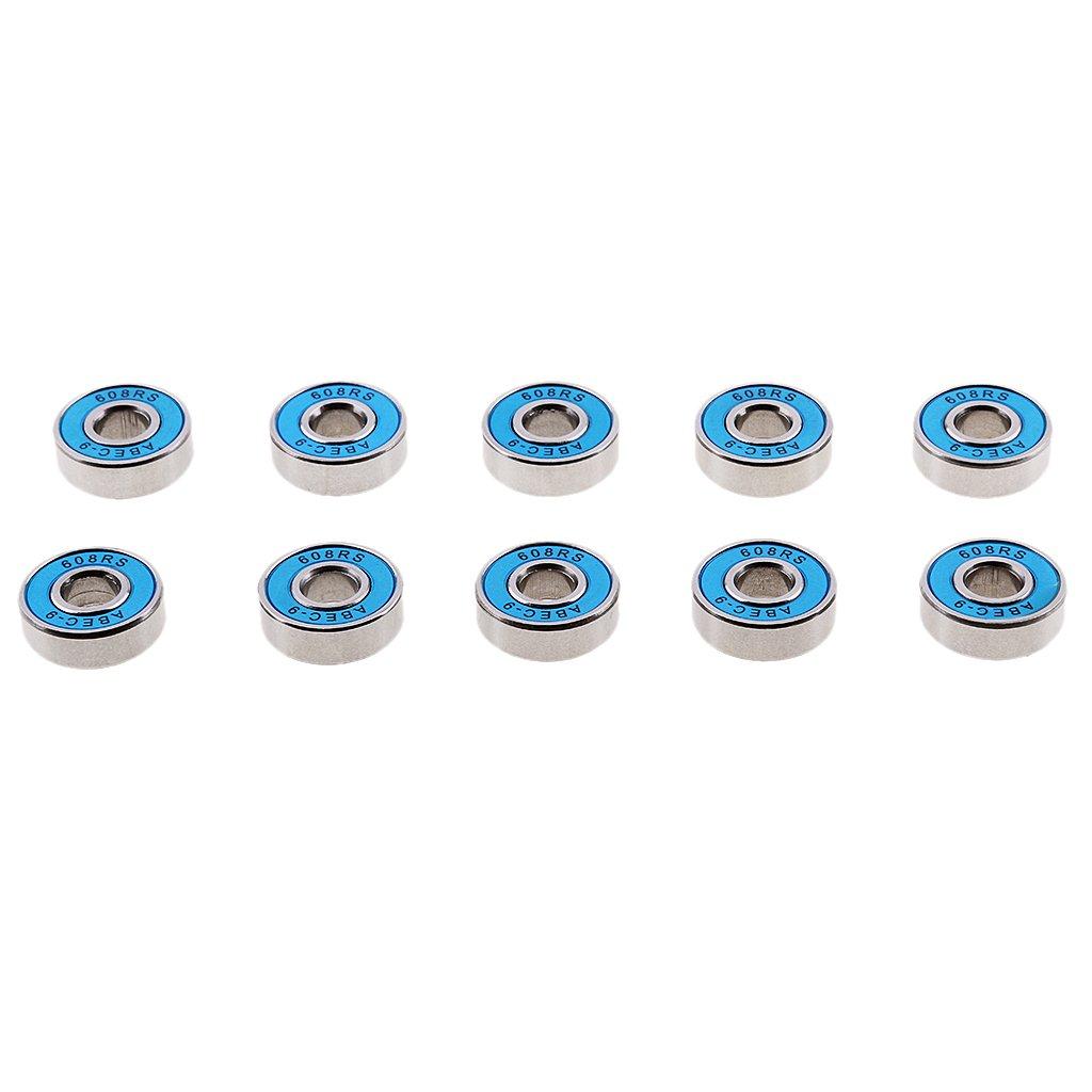 Pack Premium ABEC-9 608RS Rodamiento De Pat/ín De Ruedas En L/ínea Rodamientos De Monopat/ín Gazechimp 10Pcs