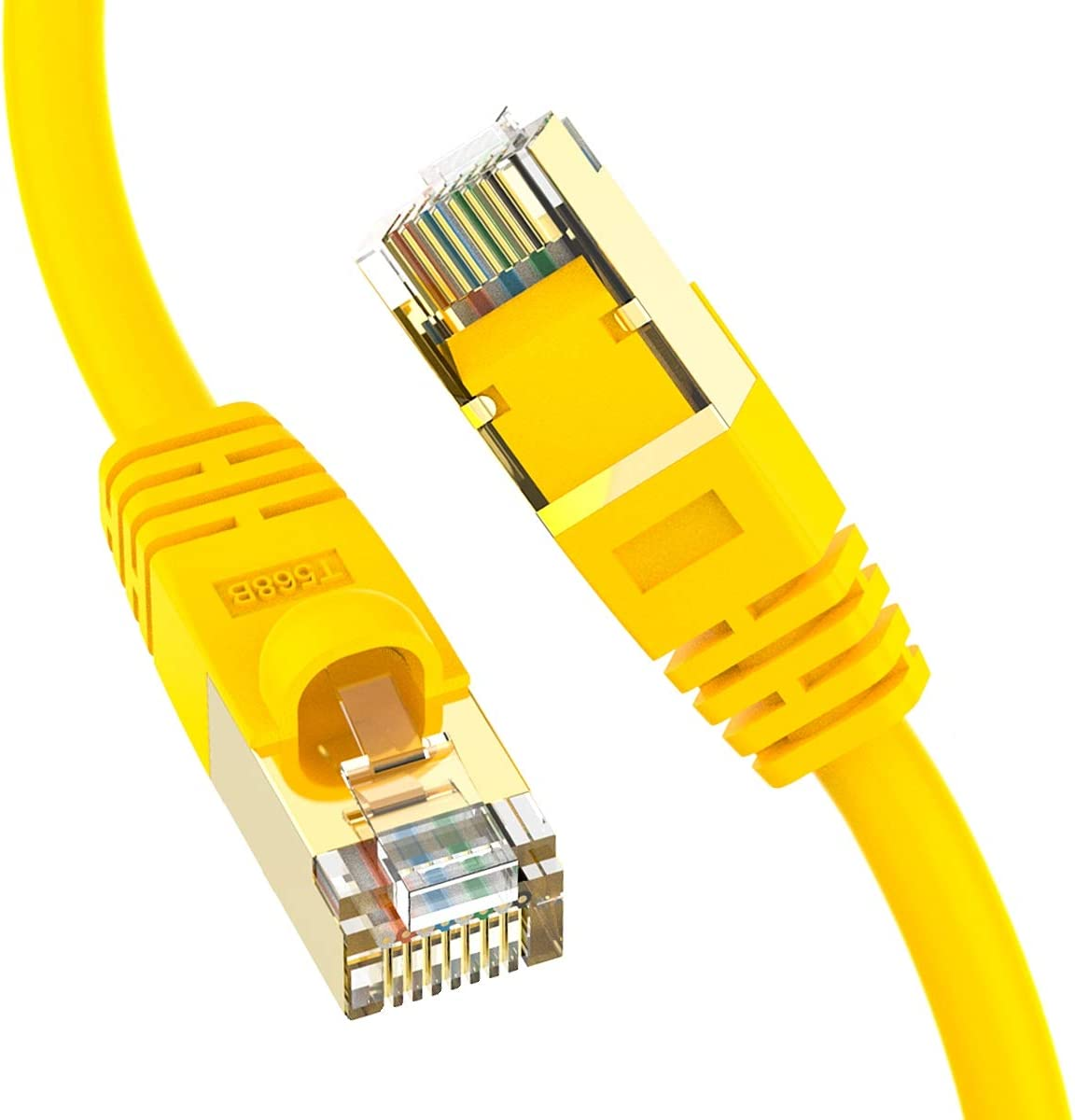 24AWG 40Gigabit//Sec Network//High Speed Internet Cable for Router 0.5 FT 5 Pack Modem,Gaming//2000 MHZ InstallerParts Ethernet Cable CAT8 Cable Professional Series Red