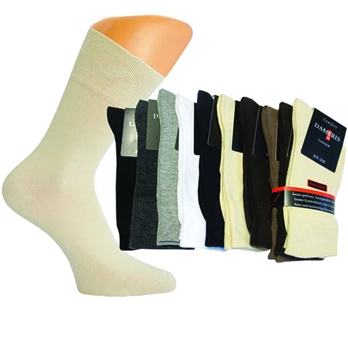 Art-of-Baan Juego de 6 pares de calcetines para mujer, muy cómodos