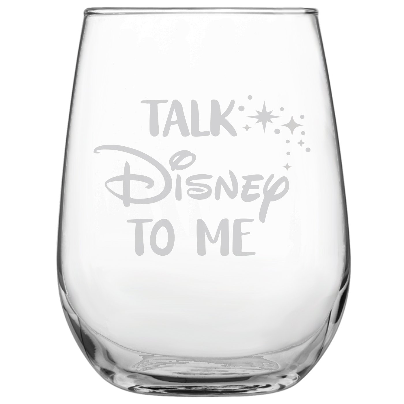 Talk Disney to Me • 17oz Stemless Wine Glass • Disney-Inspired Glass • Mickey Mouse Fan • Minnie Mouse Fan • Birthday Present • Gift for Friend