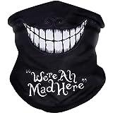 Bandana Face Mask, Neck Gaiter Skull Face Bandana Shield Dust Scarf Covering Rave Mask
