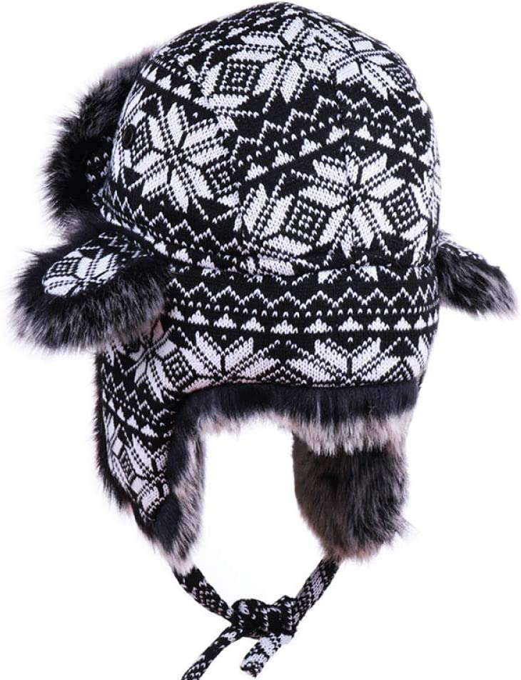AdronQ Bomber hat with goggles Russian Ushanka knitted earlobe pilot cavalry catcher hat for winter