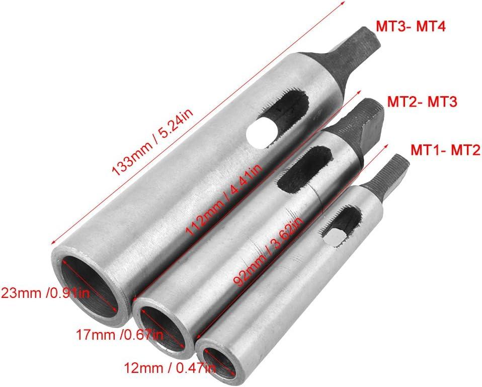 FTVOGUE 3 pcs//set MT1 MT4 Taper Adapter Reducing Drill Chuck Sleeve MT2 MT2 MT3 MT3