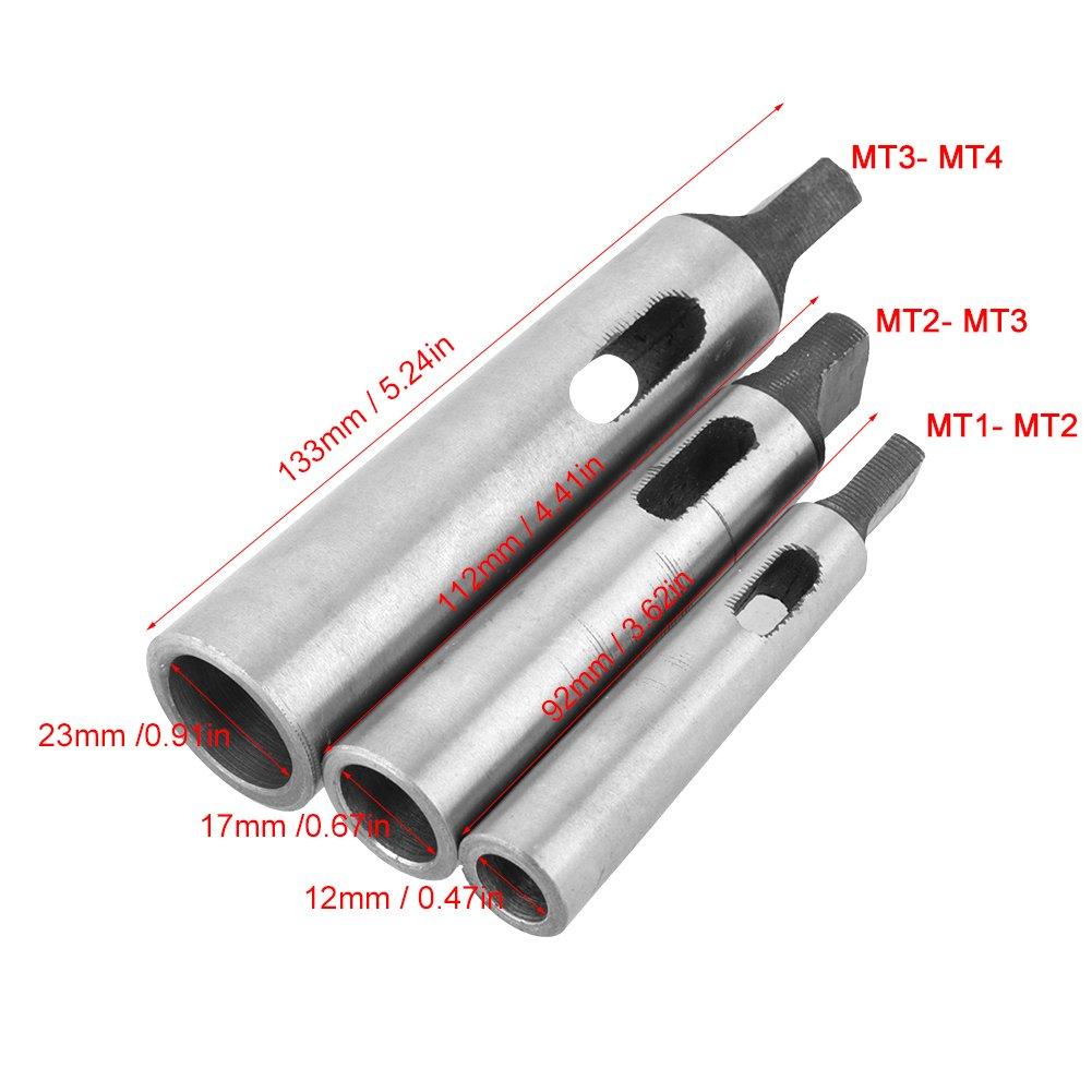 Reduzierung der Bohrh/ülse 3 St/ück//Set MT1-MT2 MT2-MT3 MT3-MT4 Reduzierung der Bohrfutterh/ülse Starker Schockwiderstand Kegeladapter