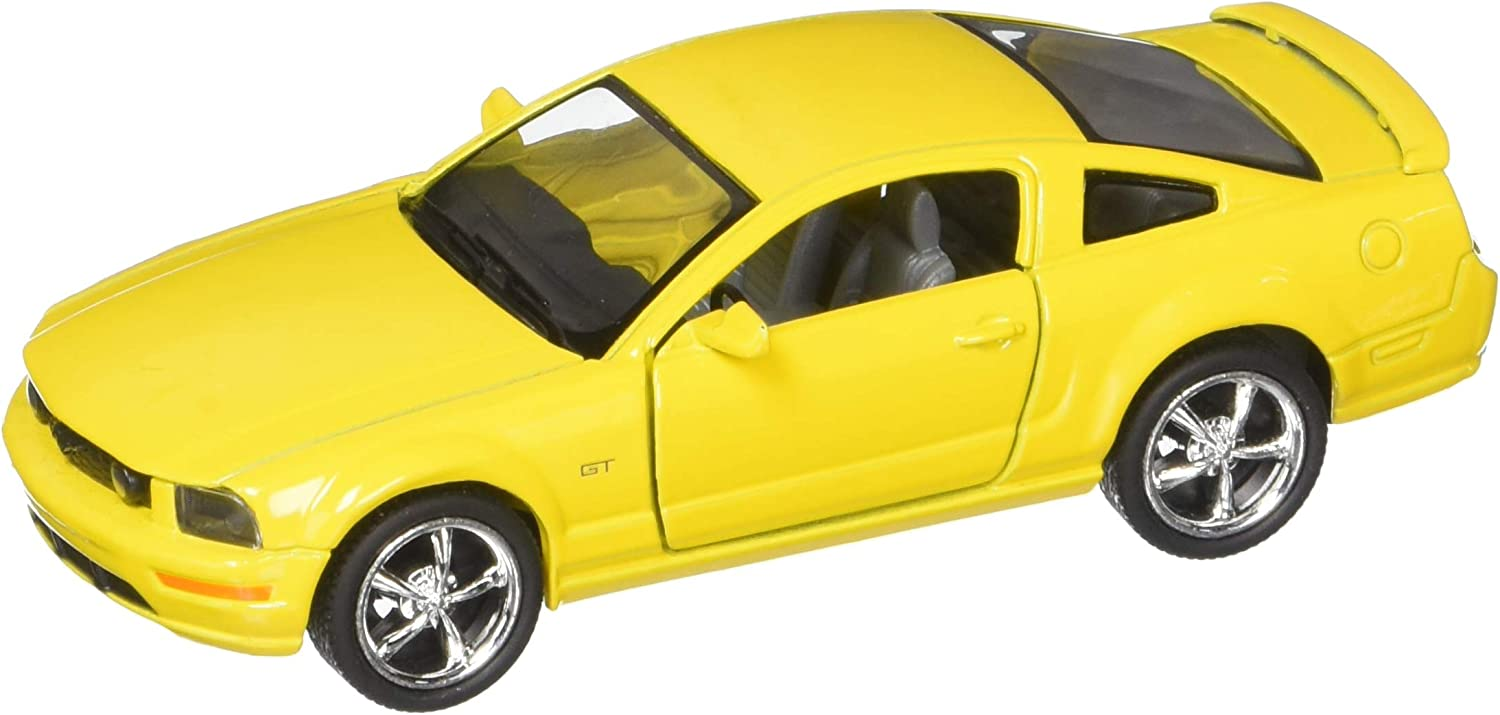 2006 Ford Mustang GT, Yellow - Kinsmart 5091D - 1/38 scale Diecast Model Toy Car, but NO BOX