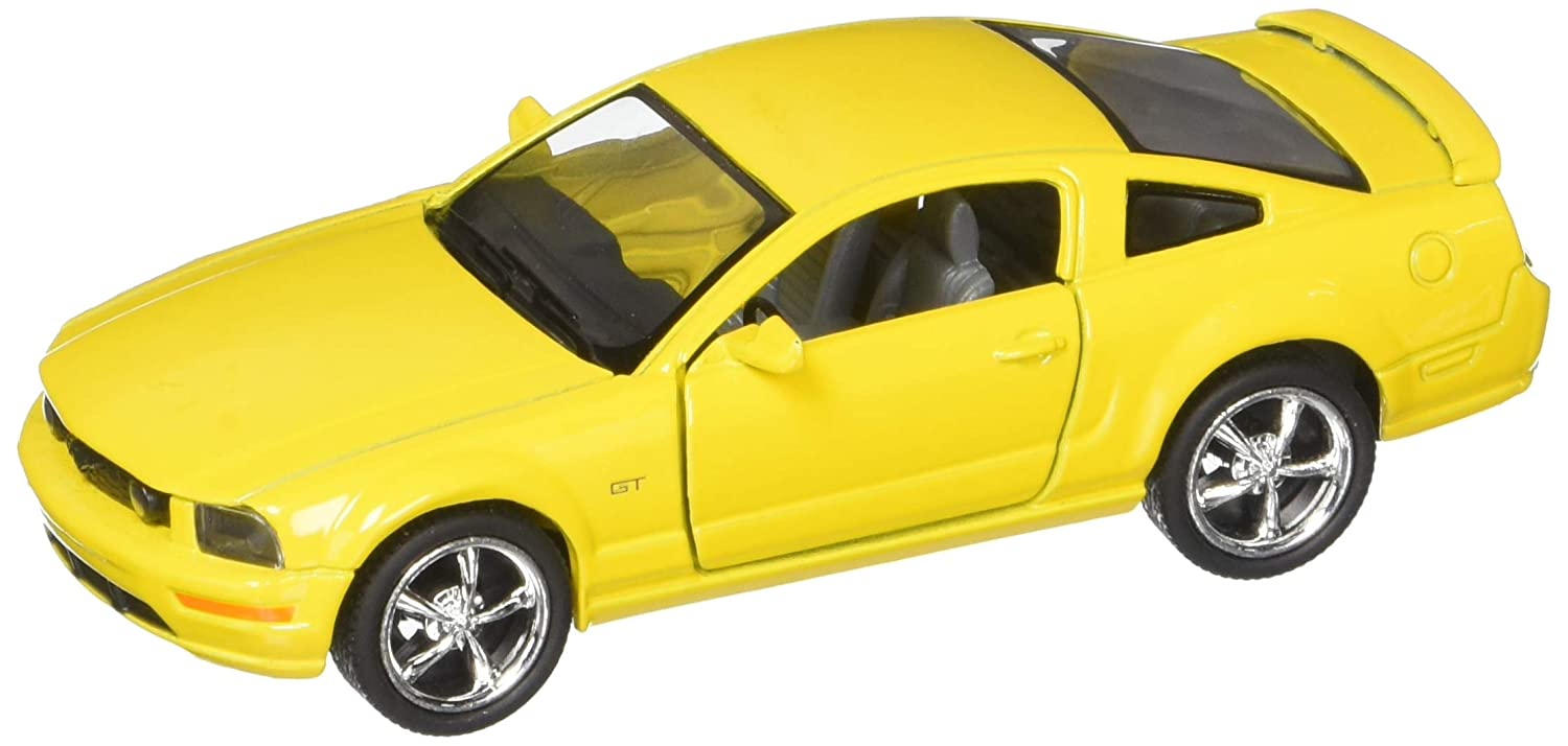 2006 Ford Mustang GT Yellow Kinsmart 5091D 1 38 scale Diecast Model Toy Car