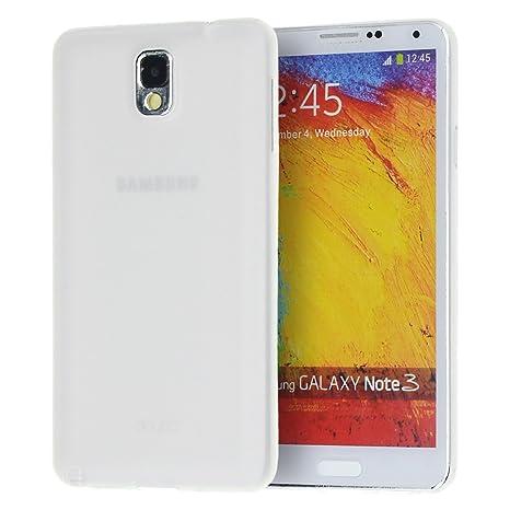 96120c19076 doupi UltraSlim Funda para Samsung Galaxy Note 3, Finamente Estera Ligero  Estuche Protección, blanco