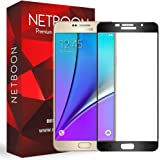 NETBOON® Full Edge to Edge Coverage Gorilla Tempered Glass for Samsung Galaxy A7 (2016) – Black