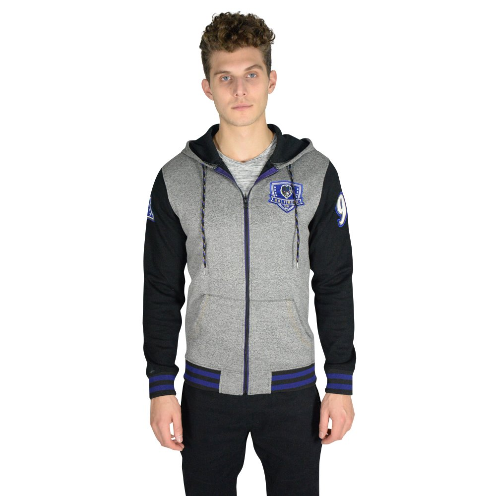 low priced 709b3 9f774 Ultra Game NFL Baltimore Ravens Men's Full Zip Fleece Hoodie Letterman  Varsity Jacket, Team Color, Black, Medium