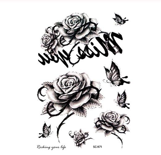 DRTHUKG Etiqueta Engomada del Tatuaje Sketch Black White Music ...