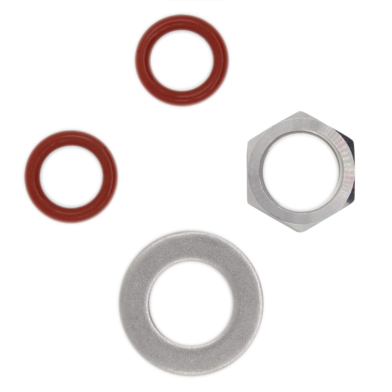 1/2 inch weldless Bulkhead Homebrew Fittings kit for thermowell Brew Kettle Thermometer Boiler Homebrew - Rubber o Ring Gasket Screw nut Set Lepai