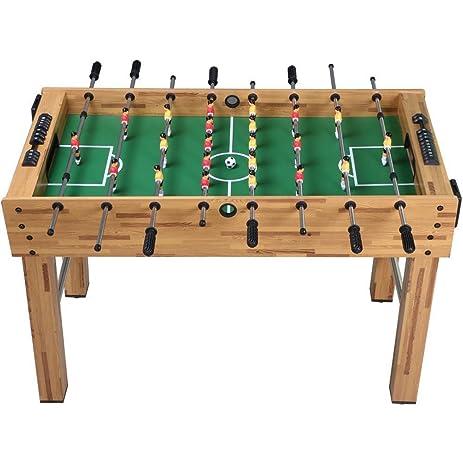Topeakmart 48u0027u0027 Foosball Table Soccer Game Indoor Arcade Family Sports  Natural Football Table Arcade