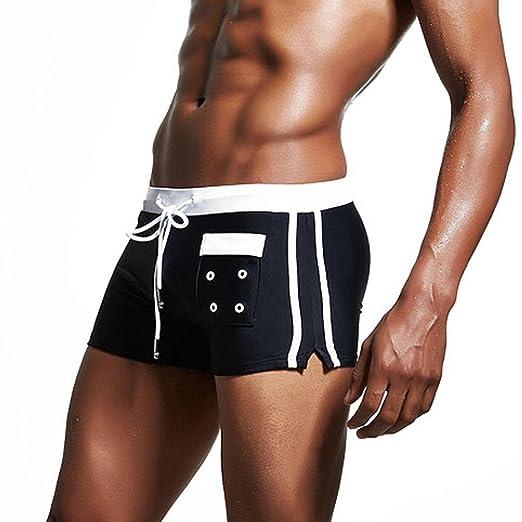 Bikini bandeau Ángulo plano Pantalones de baño, YanHoo® Pantalones cortos de traje de baño transpirable para hombre Pantalones cortos de traje de baño ...